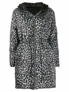 Michael Michael Kors Cheetah print padded coat - Black