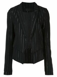 RtA Stella striped double-layer blazer - Black
