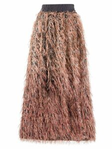 Fabiana Filippi asymmetric feathered skirt - Black