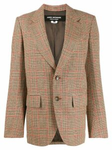 Junya Watanabe slim-fit checked blazer - Neutrals