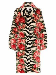 Shrimps Lorca floral coat - Black