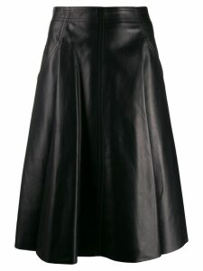 Drome leather A-line skirt - Black