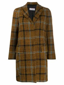 Alberto Biani single-breasted plaid coat - NEUTRALS