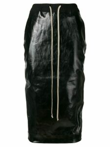 Rick Owens DRKSHDW elasticated varnished skirt - Black