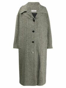 Alberto Biani oversized hooded coat - Black