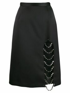 Christopher Kane crystal split skirt - Black