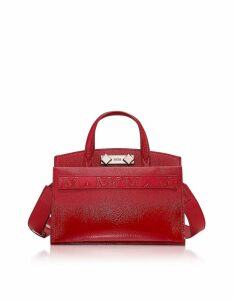 MCM Designer Handbags, Ruby Red Milano Patent Mini Tote Bag