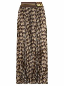 Fendi Fendi Roma Amor pleated skirt - Brown