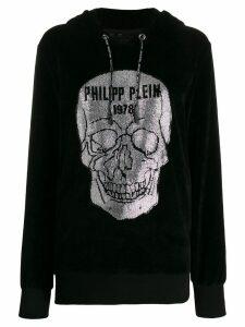 Philipp Plein embellished-skull hoodie - Black