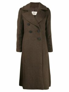 Jovonna long double breasted coat - Brown
