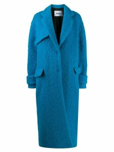MSGM single-breasted oversized coat - Blue