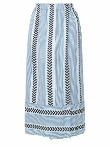 Lemlem pinstripes wrap skirt - Blue