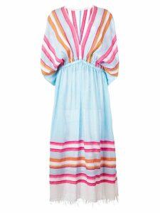 Lemlem Eskedar plunge dress - Blue