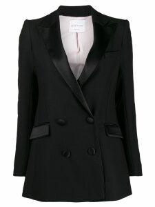Hebe Studio double-breasted tuxedo blazer - Black