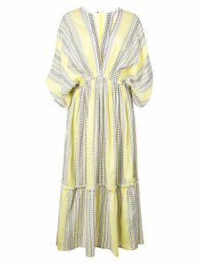 Lemlem Amira plunge dress - Yellow