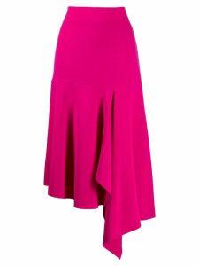 Balenciaga godet drape skirt - Pink