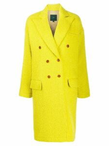 Jejia bouclé fleeced double breasted coat - Green