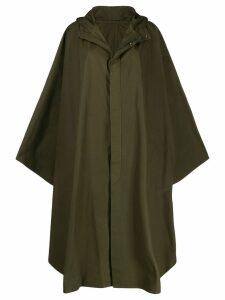 Holland & Holland oversized cape coat - Green