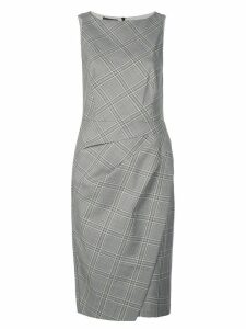 Narciso Rodriguez checkered fitted dress - Grey
