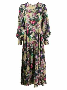 Rotate floral print cutout dress - Green