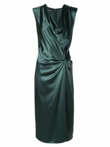Narciso Rodriguez knotted-waist silk dress - Green