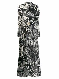 Just Cavalli leaf print shirt dress - Black