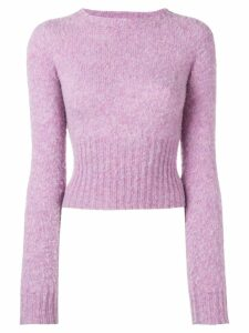 Victoria Beckham crew neck jumper - Purple