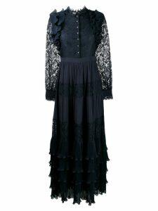 Just Cavalli ruffle tiered maxi dress - Blue