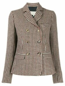 Holland & Holland houndstooth double-breasted blazer - Neutrals