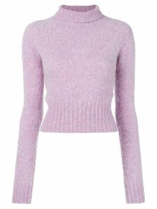 Victoria Beckham turtle neck knit jumper - Purple