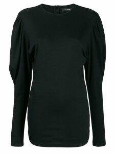 Isabel Marant ruffled sleeve top - Black