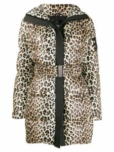 Ermanno Scervino leopard print padded coat - Neutrals