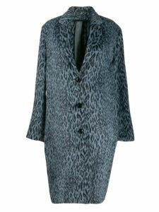 Omc leopard-print coat - Blue