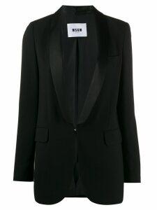 MSGM single-breasted hooked blazer - Black