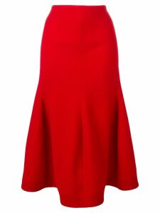 Victoria Beckham asymmetric skirt - Red