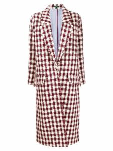 Jejia tartan check cocoon coat - Red