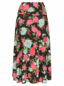 Erdem Elvin floral-print midi skirt - Black