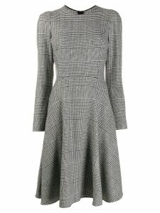 Ermanno Scervino long-sleeve plaid dress - Black