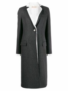 Marni layered single breasted coat - Grey