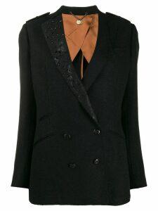 Maurizio Miri double-breasted blazer - Black