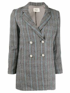 Jovonna double breasted check blazer - Grey