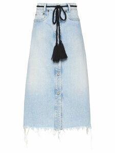 Miu Miu Iconic new denim skirt - Blue