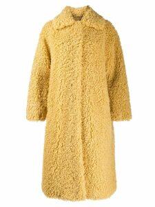 STAND STUDIO Leah shearling cocoon coat - Neutrals