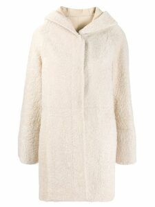 Drome hooded shearling jacket - Neutrals