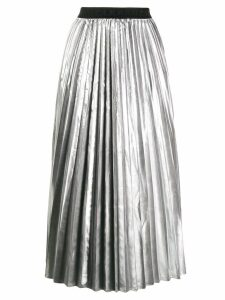 P.A.R.O.S.H. pleated midi skirt - Silver