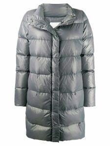 Fabiana Filippi padded ribbed coat - Grey