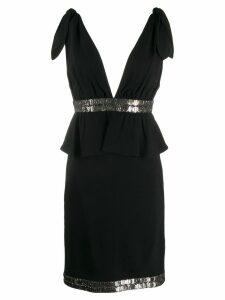 Karl Lagerfeld v back cocktail dress - Black