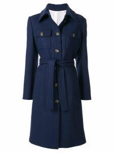 CK Calvin Klein belted trenchcoat - Blue