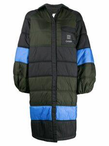 Ganni quilted oversized jacket - Blue