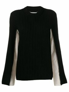 Maison Margiela two-toned ribbed jumper - Black